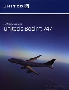 https://flic.kr/p/Zxkbed | United Airlines - Welcome aboard United's Boeing 747;  2016