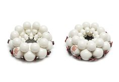 """Peter Hoogeboom. """"Shaoxing Peony"""", Brooch: porcelain, silver, lacquer, nylon, steel"""