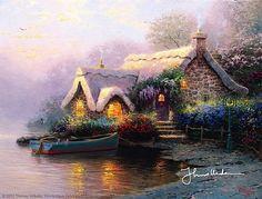 Thomas Kinkade - Lochaven Cottage  1995
