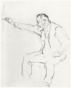 Ferdinand Hodler drawing. Study for the etching by the same name.