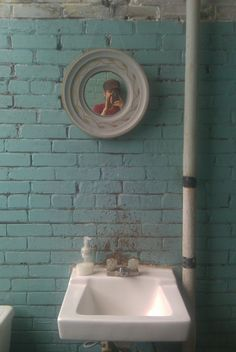 Good, basic sink - a very old bathroom in a very old nut factory in milwaukee, wi.