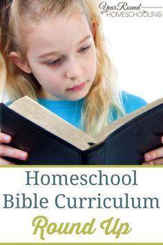 Homeschool Bible Curriculum Round Up - By Sara