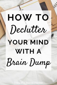 How to declutter your mind with a brain dump Find ideas, prompt and template to organize your thoughts Learn How To Brain Dump with A Bullet Journal. Find out how this simple exercise helps relax you, decreases anxiety and increases productivity. Brain Dump Bullet Journal, Bullet Journal Tracker, Bullet Journal How To Start A, Bullet Journals, Declutter Your Mind, Organize Your Life, Journal Prompts, Journal Pages, Journal Layout