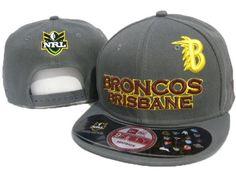 New Era x NRL Brisbane Broncos 9fifty Grey Snapback Hat
