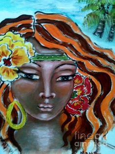 Bathsheba - painting by Maya Telford