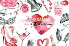 Bachelorette Watercolor by OctopusArtis on Creative Market