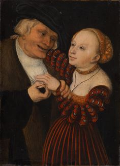 An Old Man with a Girl