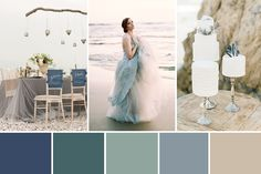 Inspired by the Sea Wedding Colour Inspiration combining blues such as indigo, blue-greens like sea glass and neutrals with shades of sand and driftwood...