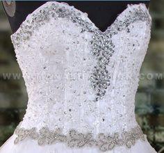 Professional Wedding Dress with crystals www.manalifashion.com $800