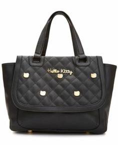 Hello Kitty Quilted Stud Satchel Women's - Handbags