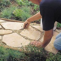 How to install a flagstone path in a weekend..