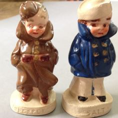 Vintage Soldier And Sailor Salt-And-Pepper Shakers