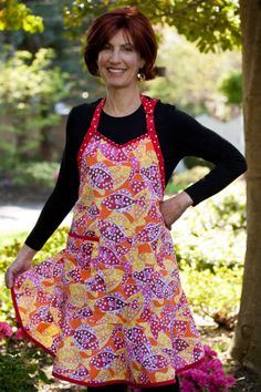 Flirty Hostess Koi Polloi Bib Apron  Cat Fish in Red by cococtions, $28.00