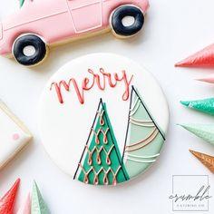 Iced Cookies, Royal Icing Cookies, Holiday Cookies, Cookie Decorating, Merry, Instagram, Design, Food, Cookies