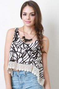 Scribble Lace Top cute!! #urbanog