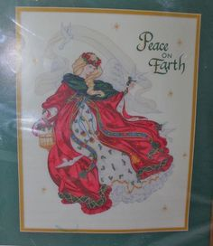 Dimensions Angel of Peace Kit 1441 Christmas Ribbon Embroidery Peace On Earth Embroidery Kits, Ribbon Embroidery, Christmas Ribbon, Peace On Earth, Sewing Crafts, Cross Stitch, Angel, Cabins, Ebay