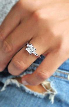 Princess Wedding Rings, Princess Cut Rings, Princess Cut Engagement Rings, Engagement Ring Cuts, Rose Gold Engagement Ring, Diamond Wedding Rings, Diamond Rings, Wedding Engagement, Solitaire Engagement