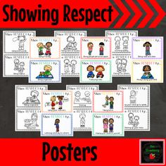 Respect Activity: Respect Posters - Use these 21 posters (colour and black & white) to help your preschool, Kindergarten, 1st, 2nd, 3rd, 4th, 5th, and 6th grade classroom or homeschool students better understand how to show respect at school, home, and in the community. It's a great life skills lesson, and you get an activity or lesson to use as well! Click through to see the 21 topics covered. {preK, K, first, second, third, fourth, fifth, sixth graders, elementary, character education}