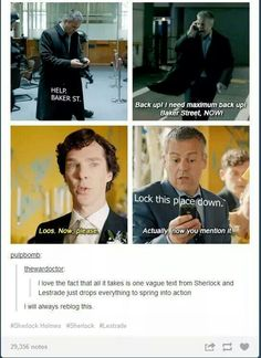 Lestrade is actually the best and Sherlock doesn't appreciate him enough.