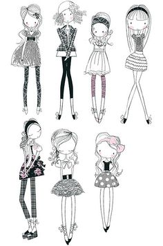 wendy burns @ wendysdesignblog.blogspot.com develop my own style of fashion drawing
