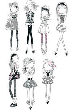 wendy burns @ wendysdesignblog.blogspot.com develop my own style of fashion drawing