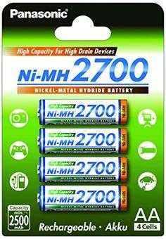 Panasonic BK-4HGAE/4BE – Pilas AA NI-MH 2700 recargables de gran capacidad (2.500 mAh, 4 unidades). Marca : Panasonic Modelo : BK-3HGAE Dimensiones (por unidad) aprox: AA : 50 mm × Ø 14 mm Tecnología : NiMH Voltaje : 1.2V Recargable Capacidad : 2700mAh / min. 2500mAh Embalaje: Blister Número de piezas: 4 Marca Panasonic Modelo […]
