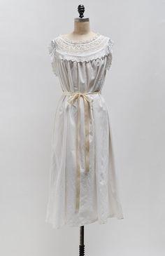 Cloudline Dress / antique 1910s smock dress / Edwardian shift dress
