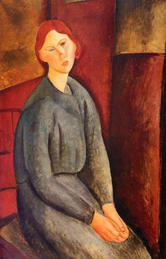 Buy online, view images and see past prices for **Amadeo Modigliani (Italian) Portrait de Anne Bjarne, 1919 oil on canvas. Invaluable is the world's largest marketplace for art, antiques, and collectibles. Amedeo Modigliani, Modigliani Paintings, Italian Painters, Italian Artist, Chaim Soutine, Art Moderne, Bedroom Art, Art Plastique, Oil On Canvas