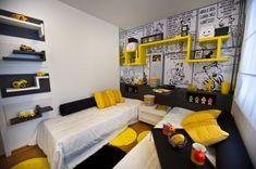 quarto infantil cinza amarelo e preto - Pesquisa Google