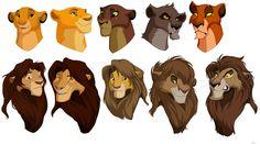 Flip Flop , Left to right top row: Simba, Mufasa, Kovu, Nuka, and Scar. Left to right bottom row: Nala, Sarabi, Kiara, Vitani, and Zira.