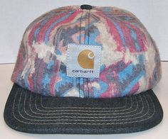 ffcca20d868 Carhartt Multi Color Aztec Designs Vintage Fuzzy Cap Snapback Hat Made In  USA  Carhartt  BaseballCap