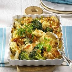 Broccoli-Blumenkohl-Auflauf Rezept | LECKER