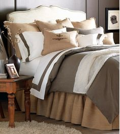 burlap euro sham, grey and white - Google Search
