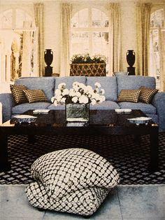 House & Garden 1972. #living room