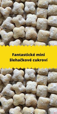 Fantastické mini šlehačkové cukroví Christmas Baking, Scones, Food And Drink, Sweets, Vegetables, Drinks, Desserts, Mini, Sweet Pie