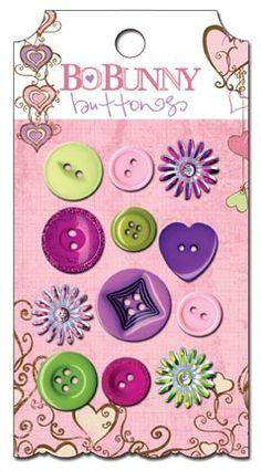 Bo Bunny Press - Smoochable Collection - Buttons at Scrapbook.com $4.49