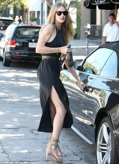 Rosie Huntington-Whitley was recently spotted in her black Audi S5.