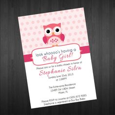 Hey, I found this really awesome Etsy listing at https://www.etsy.com/listing/173131128/owl-themed-baby-shower-invitation-baby