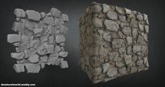 Personal Work:  Stone Wall  Made in Zbrush + Substance Designer    , Dannie Carlone on ArtStation at https://www.artstation.com/artwork/agzdX