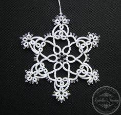 Hand tatted Christmas Snowflake XVI