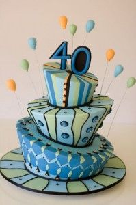 Perfect cake for a 40th birthday