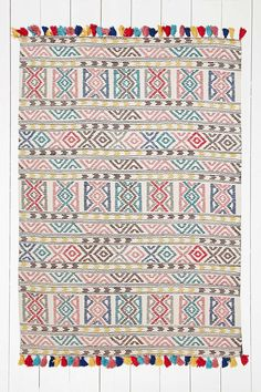 Tapis Kambala 5x7 à motifs géométriques