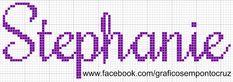 Gráficos de Nomes em Ponto Cruz: Stephanie