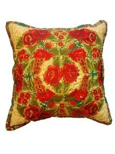 Mayan Pillow Yellow  Jacaranda Home