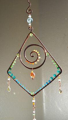 Brillante suncatcher espiral geométrica ombre piedras
