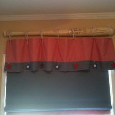 Use An Oversized Baseball Bat As A Curtain Rod Baseball