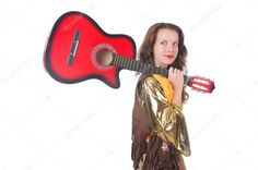 Woman with guitar in mexican clothing - Stock Photo , Mexican Clothing, Mexican Outfit, Photographers Near Me, Guitar, Singer, Stock Photos, Woman, Female, Clothes