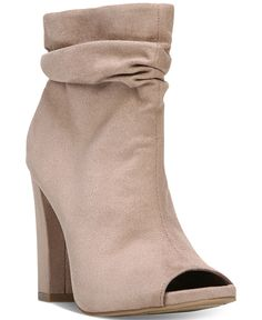 Carlos by Carlos Santana Felicity Slouchy Peep-Toe Booties - Carlos Santana - Shoes - Macy's