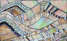 A Winter Dream a stained glass mosaic by Kasia Polkowska  https://www.facebook.com/KasiaMosaics