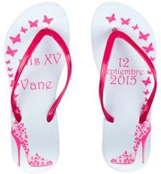 Sandalias para XV años, Chanclas para XV años, Sandalias para Fiesta, Chanclas para Fiesta, Sandalias personalizadas Designer Sandals, Tiffany Blue, Silhouette Cameo, Ball Gowns, Flip Flops, Quinceanera Ideas, Christmas Decorations, Fashion, Personalized Flip Flops
